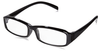 Angle view of plastic reading glasses. Available in a mix of black and brown glasses.