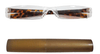 Tortoise Shell reading glasses in acrylic with a brown case