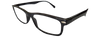 Side view of black reading glasses available in bulk order at a wholesale price