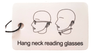 Around the Neck Reading Glasses in Tortoise Shell