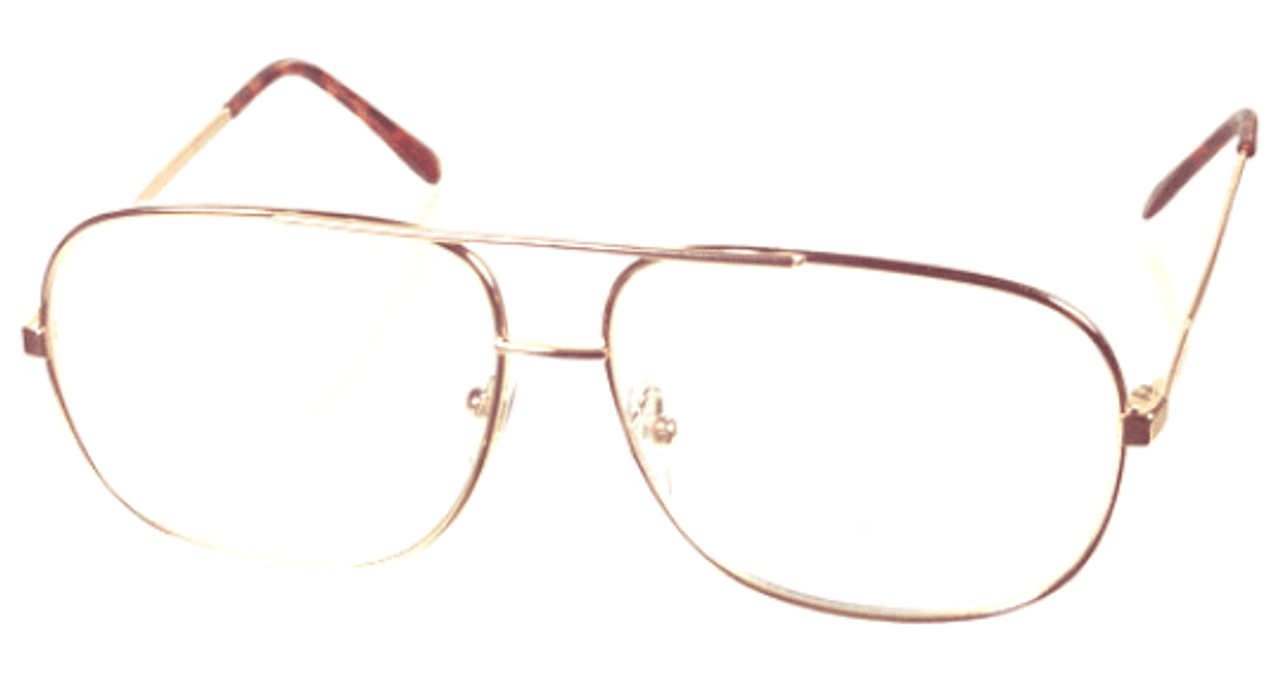 Metal Extra  Large Reading Glasses in Gold
