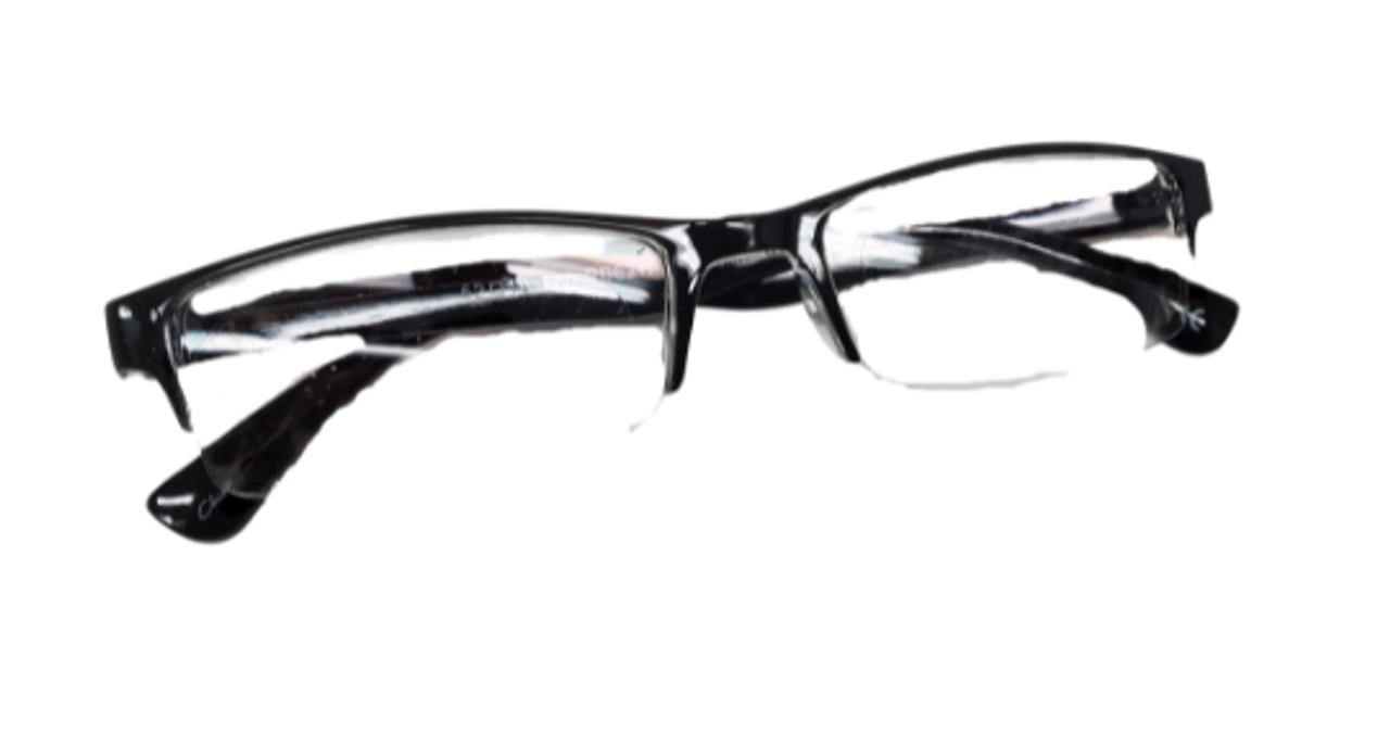 Half way reading glasses in plastic. Very light reading glasses. Foster grant reading glasses