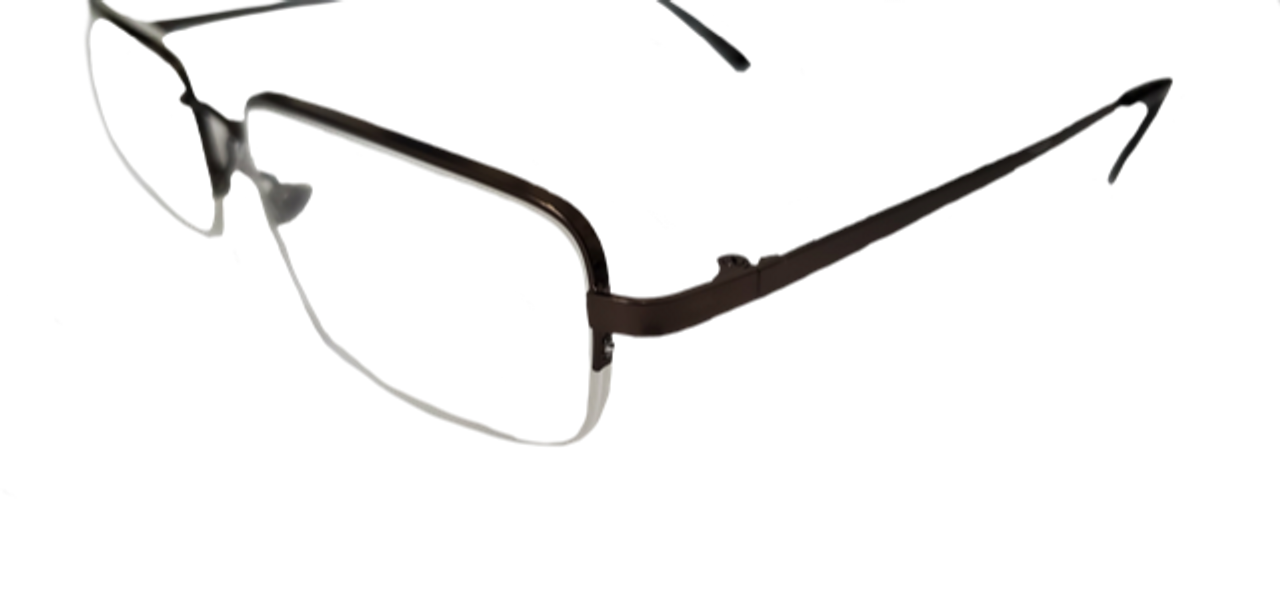 Rimless Half Way Style with Case in +3.00
