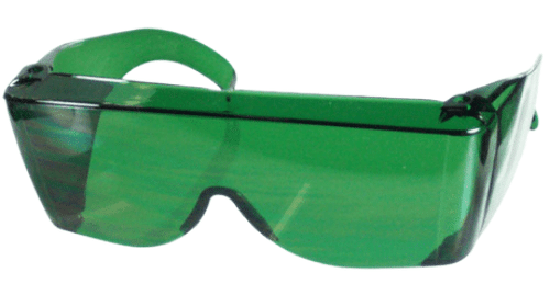 Green Wrap around Shield for the eyes