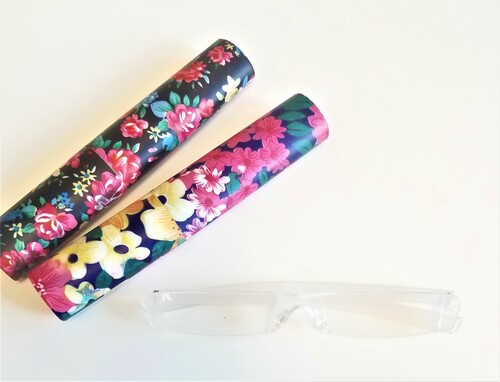 Tube Readers with Flower Print