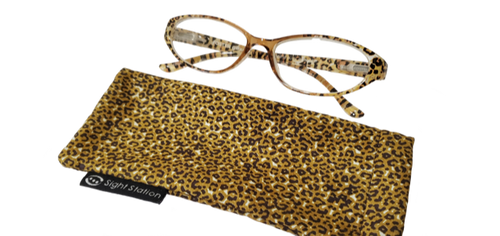 Petite Leopard Style Reading Glasses in  +1.50