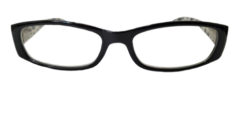 Black and White Floral Reading Glasses in +1.75