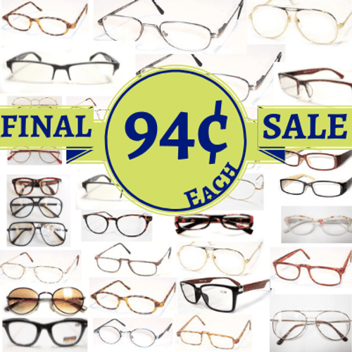 Lot of wholesale reading glasses. An assortment of reading glasses in strengths between +0.50 to +4.50.