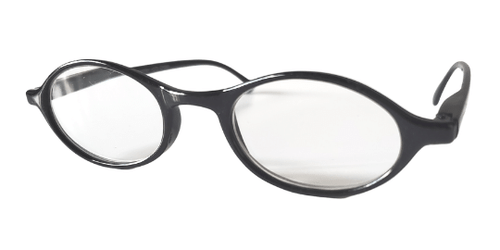 Side view of Rounded Black Reading Glasses