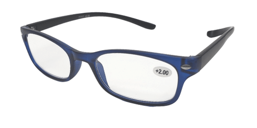 Side view of reading glasses that you can hang around your neck