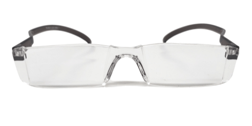 Front view of acrylic reading glasses