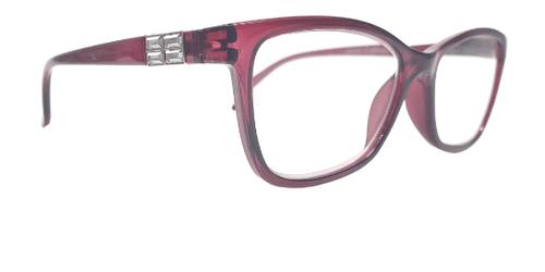 Geometric Mauve Reading Glasses