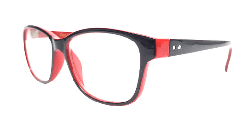 Black and Red Diamond Reading Glasses
