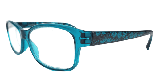Green Aqua Reading Glasses with Spring Hinges