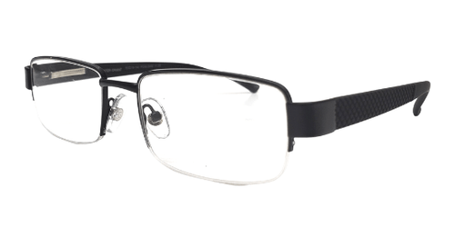 Semi Rimless Readers with Rubber Temples