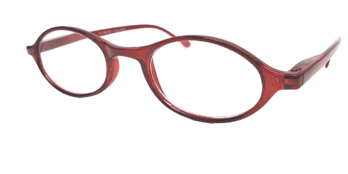 Petite Oval Red Reading Glasses