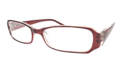 See Through Red Reading Glasses