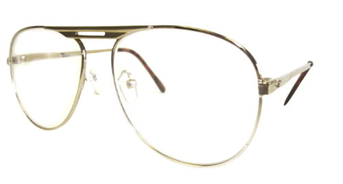 Aviator Bifocal Reading Glasses without a Tint