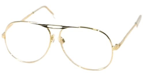 Readers in Gold Aviator Style Angled View
