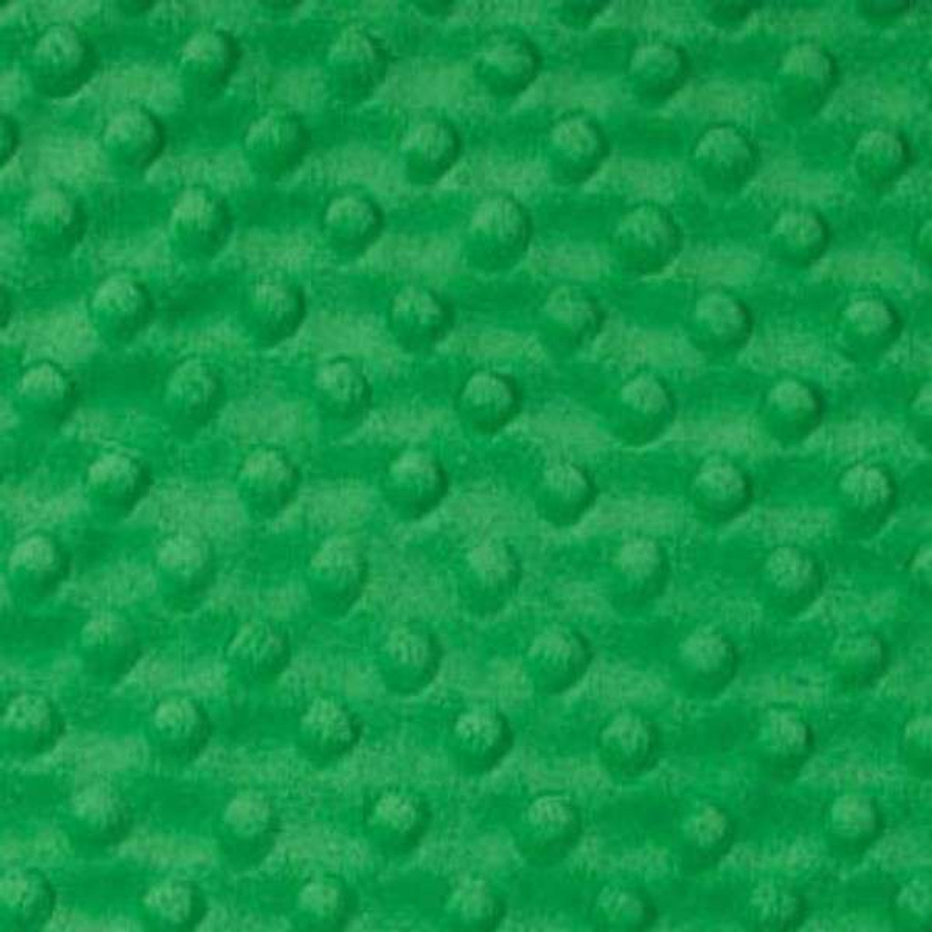 Kelly Green Dimple - Shannon Fabrics Cuddle Minky