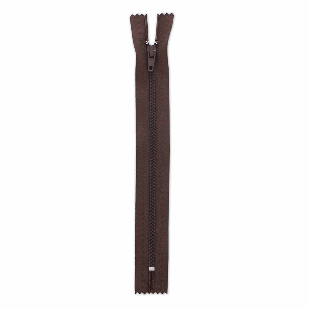 17.75cm/7in Zipper - Brown