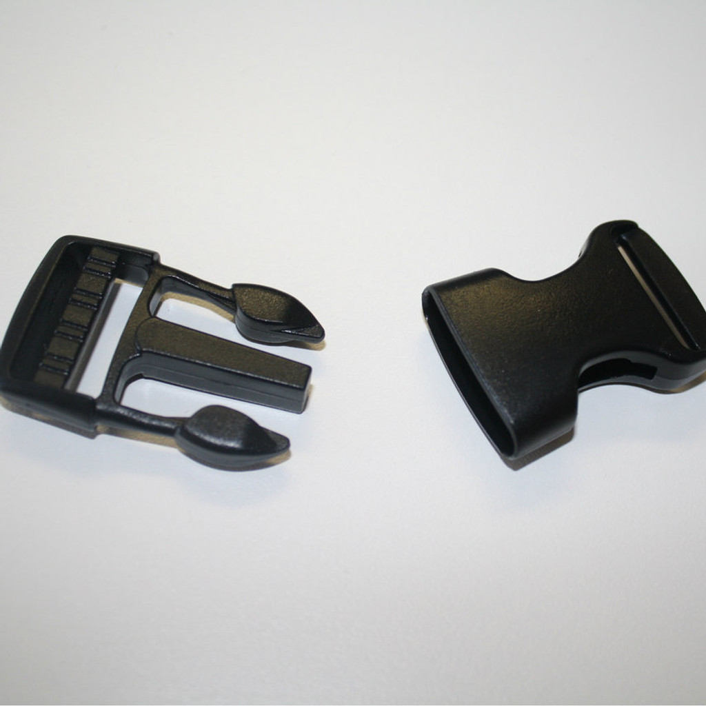 "1"" Plastic Buckle - Black"