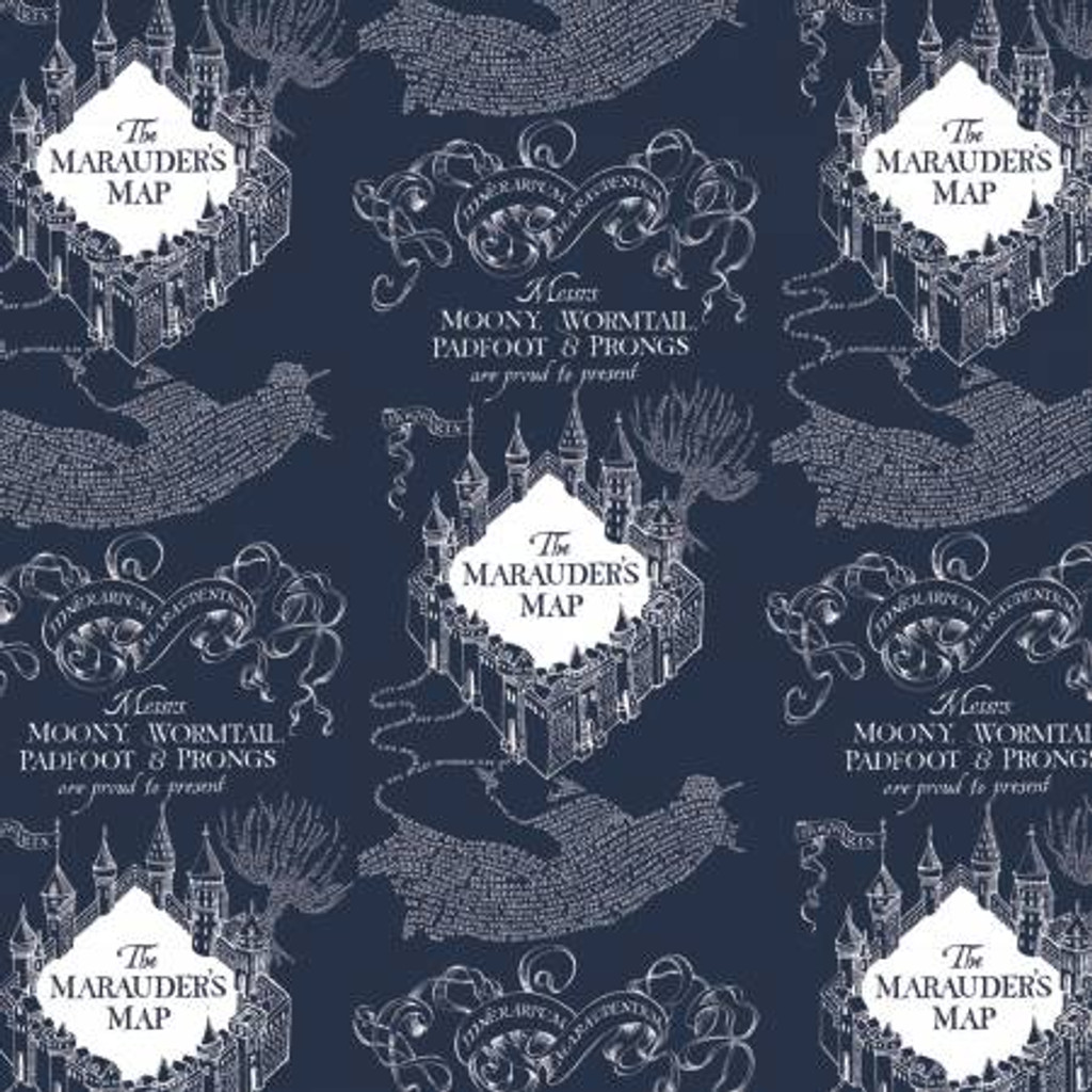 Blue Marauders Map Harry Potter - Camelot Flannel (23800130B-2)