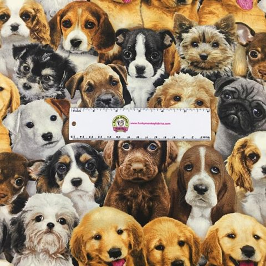 Multi Packed Puppies - Adorable Pets - Elizabeth's Studio Cotton - 1/2 yard