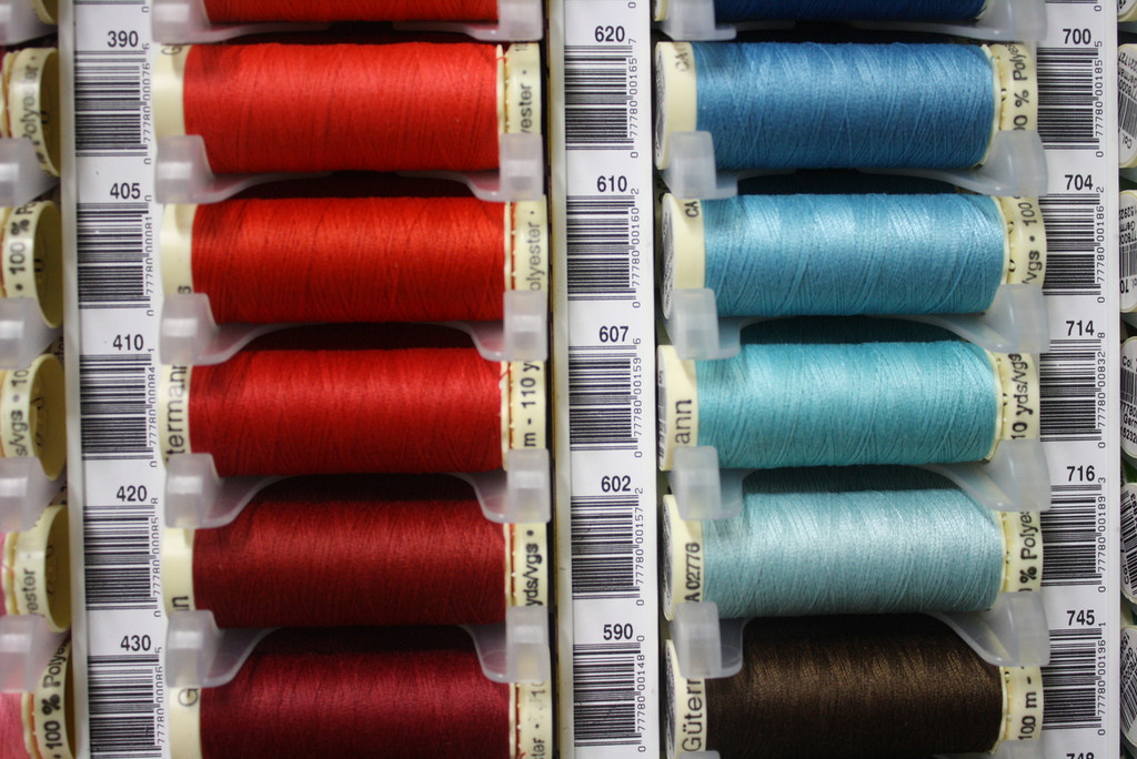 Flame Red #405 Polyester Thread - 100m