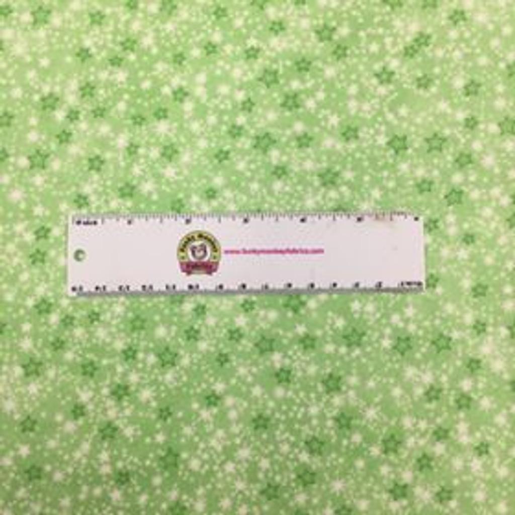 Green Mini Sparkle Stars - AE Nathan Flannel - 1/2 yard