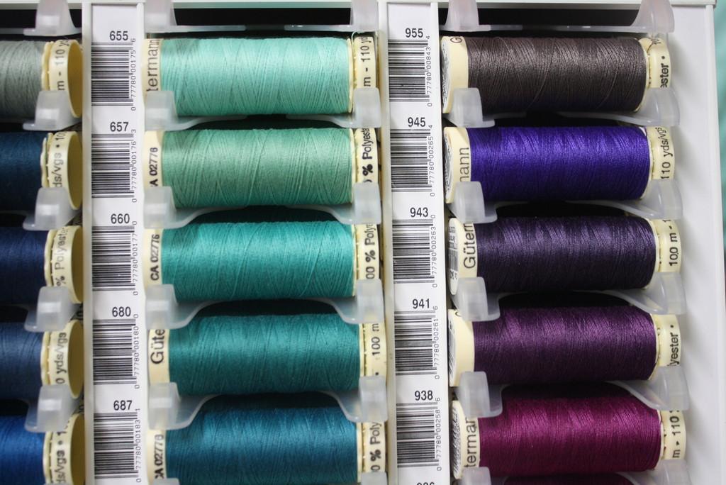 Aqua #655 Polyester Thread - 100m