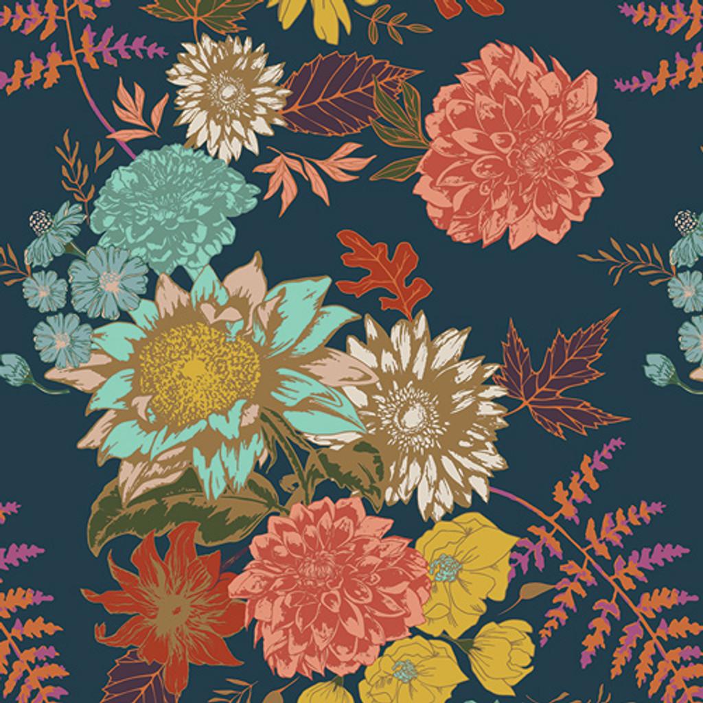 Floral Glow Twilit - Art Gallery Cotton