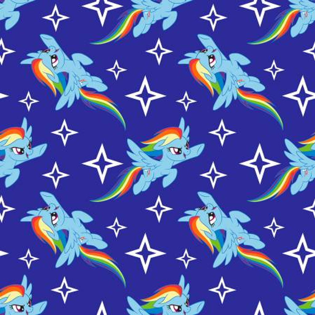 My Little Pony Rainbow Dash Fleece - 1/2 yard