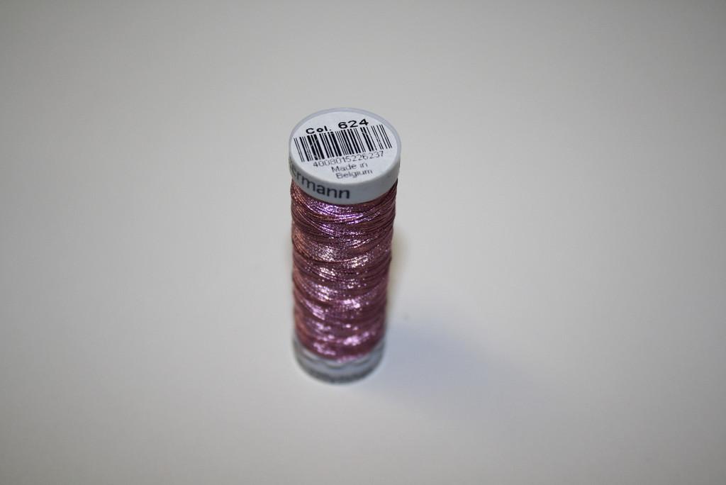 Pink #624 Metallic Thread - 200m