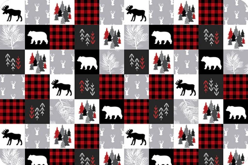 Scarlet Cabin Quilt - Shannon Fabrics Minky (CABINQUILTSCARLET)