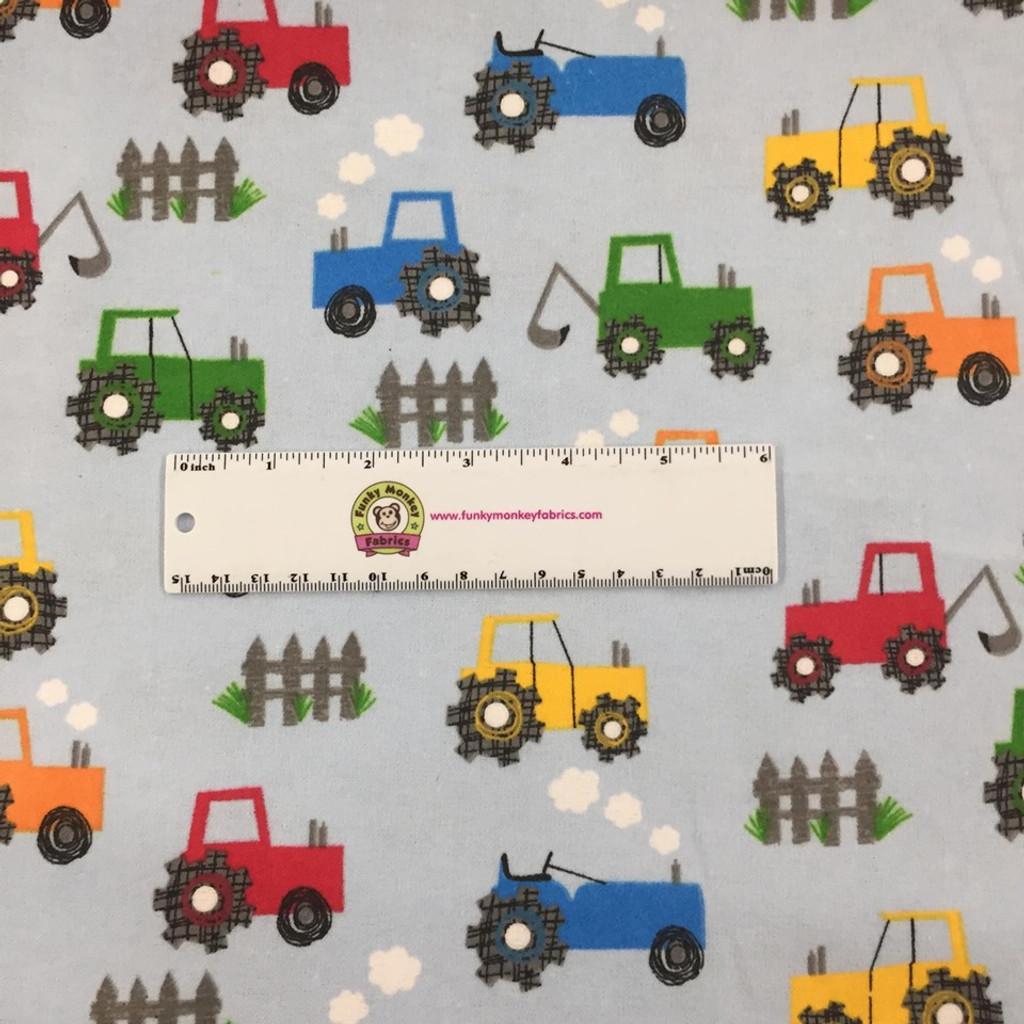 Light Blue Tractors - AE Nathan Flannel  (0509AE-11)