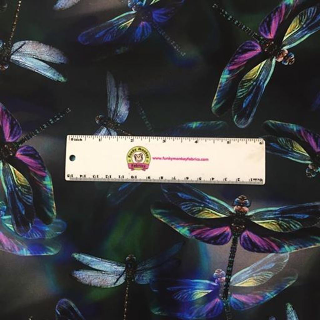 Digitally Printed Dragonflies - Hoffman Fabrics - 1/2 yard (R4629H-324)