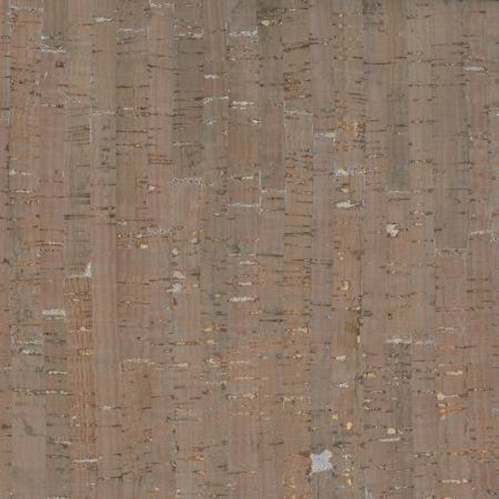Taupe/Silver Metallic - Prepacked Cork Blend Fabric - 18in x 15in roll (BPC-98-82)
