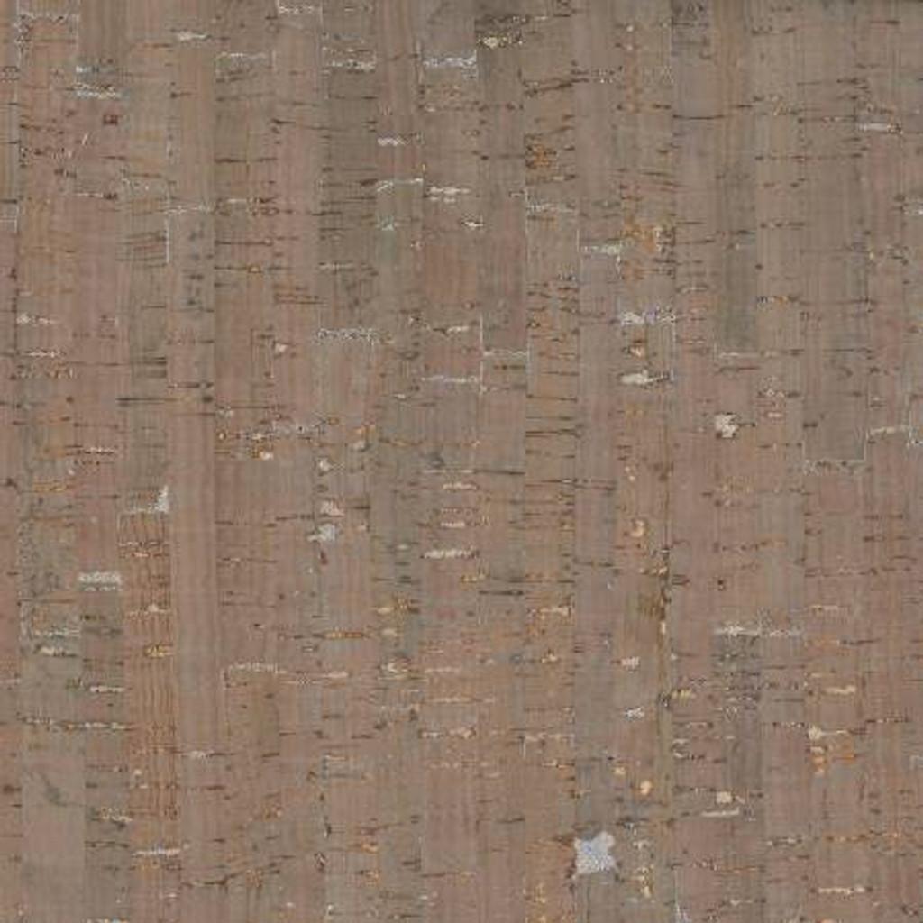 Taupe/Silver Metallic Cork Blend Fabric - Roll (BPC-98-82)