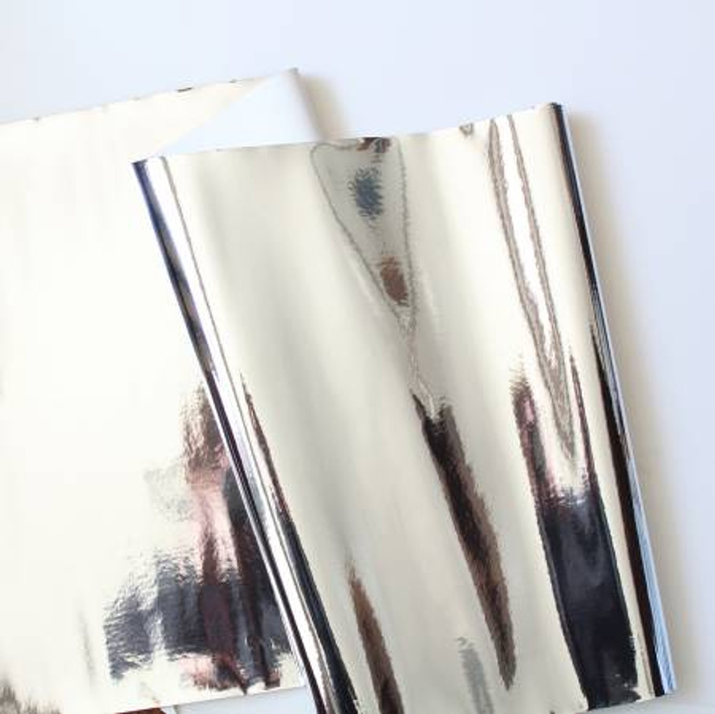 "Silver Mirror Shine Vinyl 18x52"" Roll"