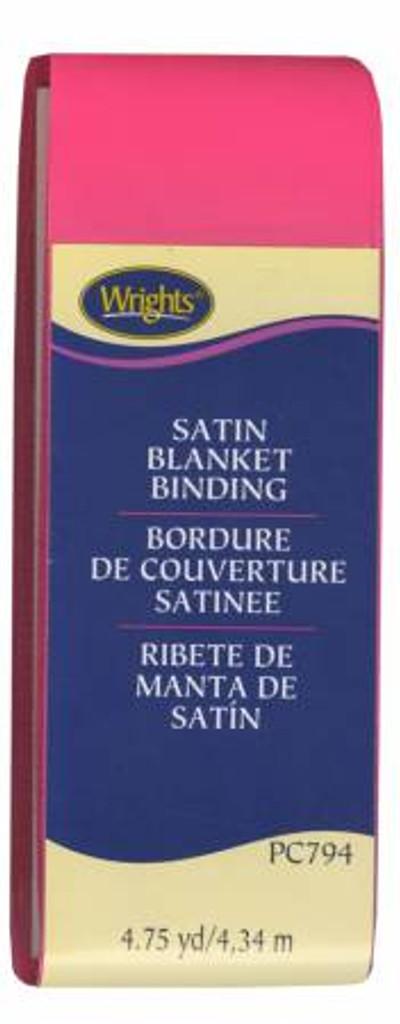 Bright Pink Satin Blanket Binding (117794022)