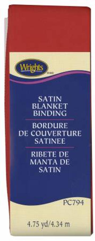 Red Satin Blanket Binding (117794065)