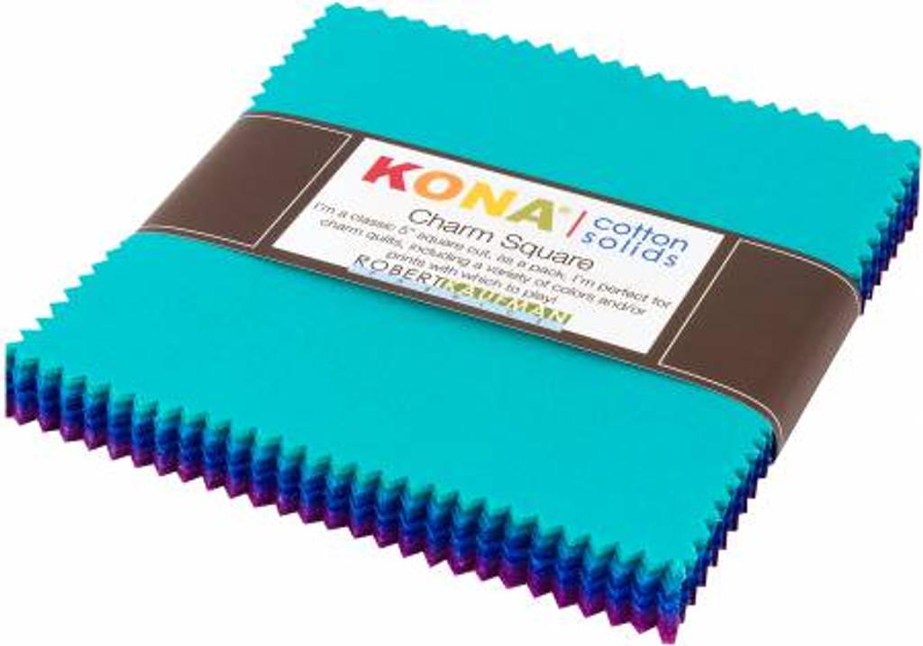 "5"" Squares - Kona Peacock - 42 Pieces - Robert Kaufman Cotton ( CHS-720-42)"