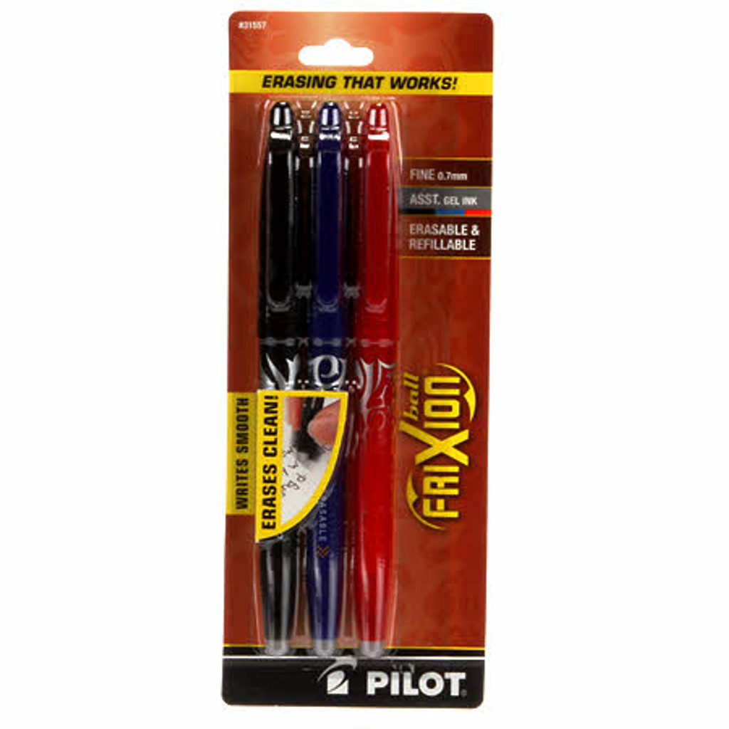 3 Pack Frixion Erasable Pen (Blue/Black/Red) (FX7C3001)