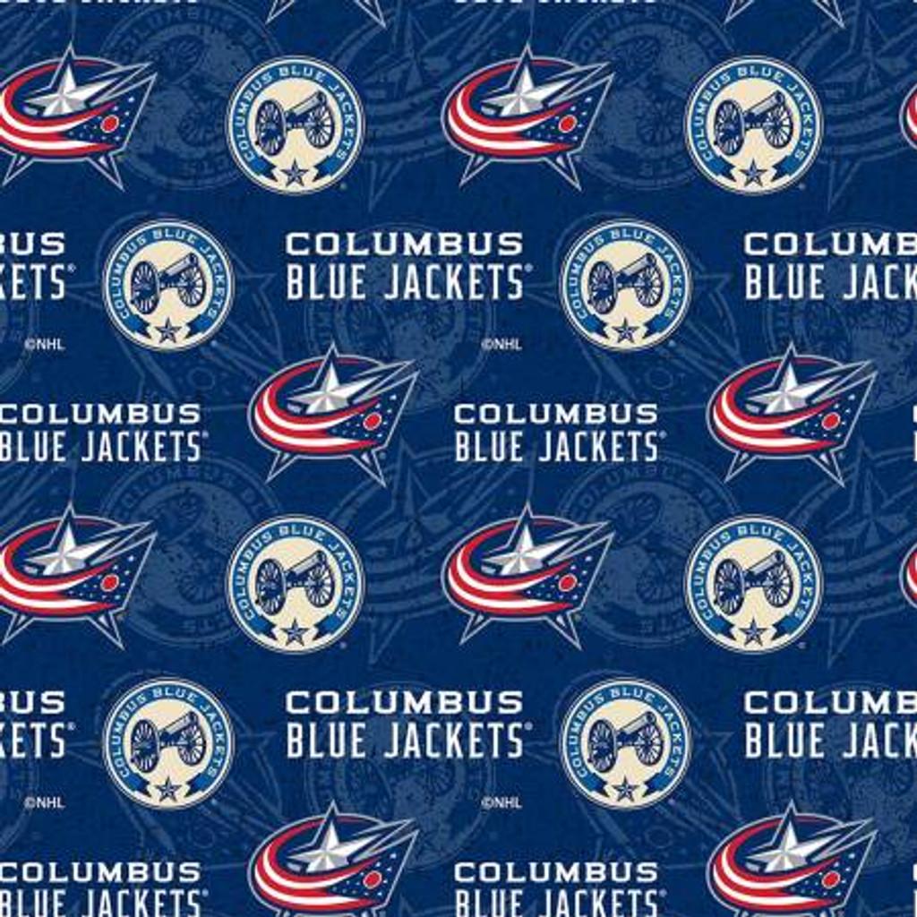 NHL Columbus Blue Jackets Tone on Tone - Sykel Enterprises - 1/2 yard