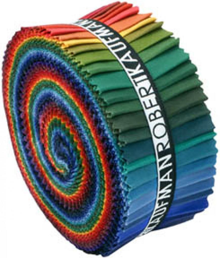 Jelly Roll Kona Cotton Solids Dark Palette 41pcs- Robert Kaufman Cotton