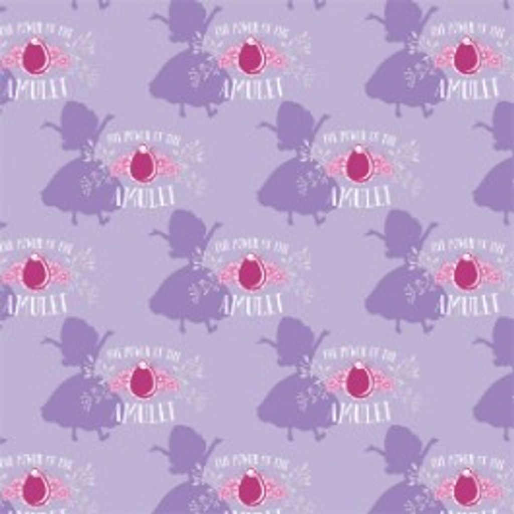 Lavender Sofia the First Amulet - Camelot Cotton - 1/2 yard