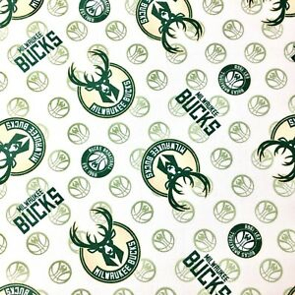 NBA Milwaukee Bucks  - Camelot Cotton - 1/2 yard