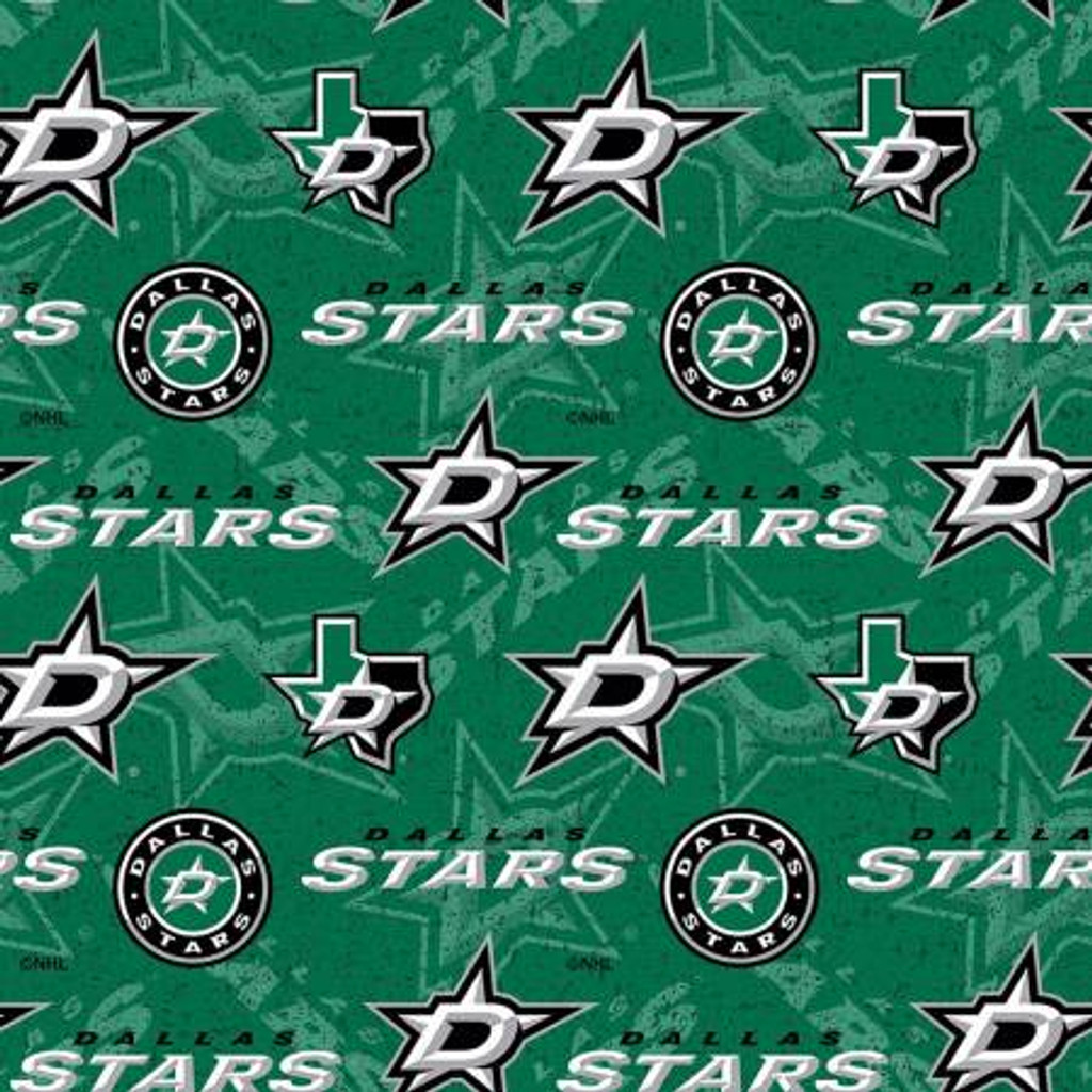 NHL-Dallas Stars Tone on Tone Cotton - Sykel Enterprises - 1/2 yard