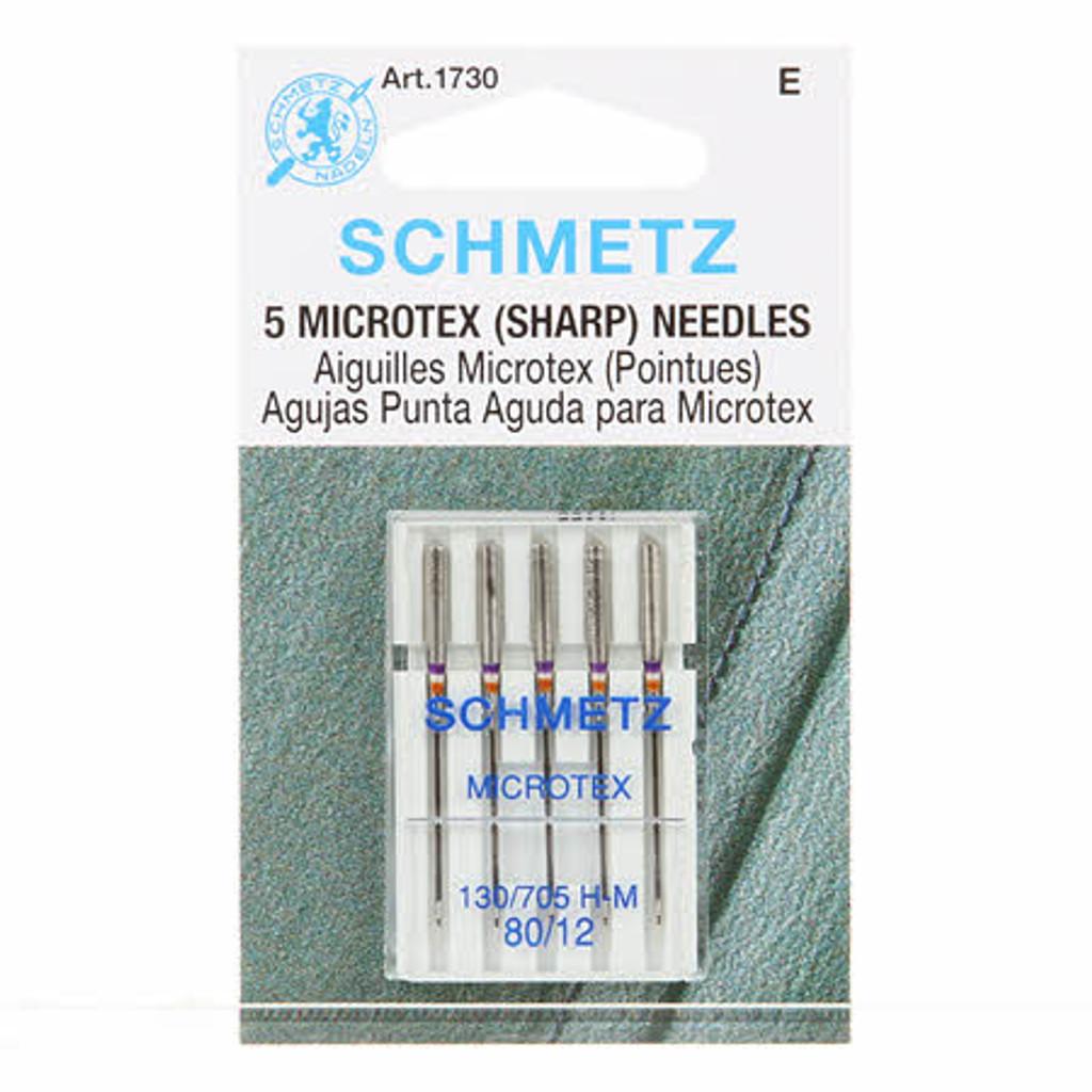 Schmetz Sharp/Microtex Machine Needles 12/80 (5 pack)